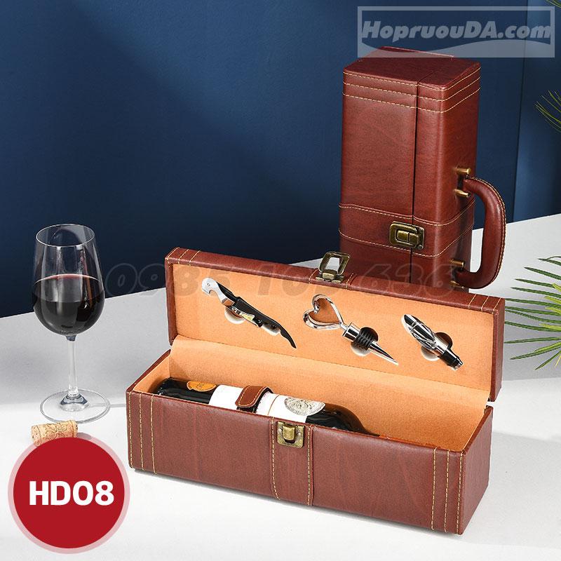 hộp đựng rượu đơn bằng da giá rẻ tại Hà Nội