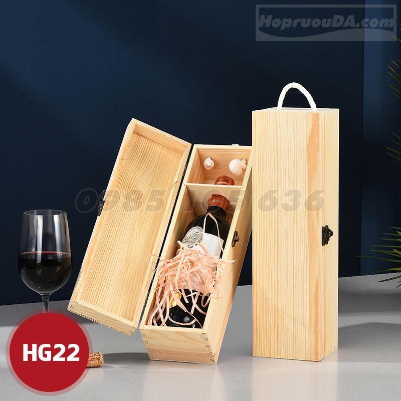 Mua hộp đựng rượu gỗ đơn loại 1 chai ở đâu