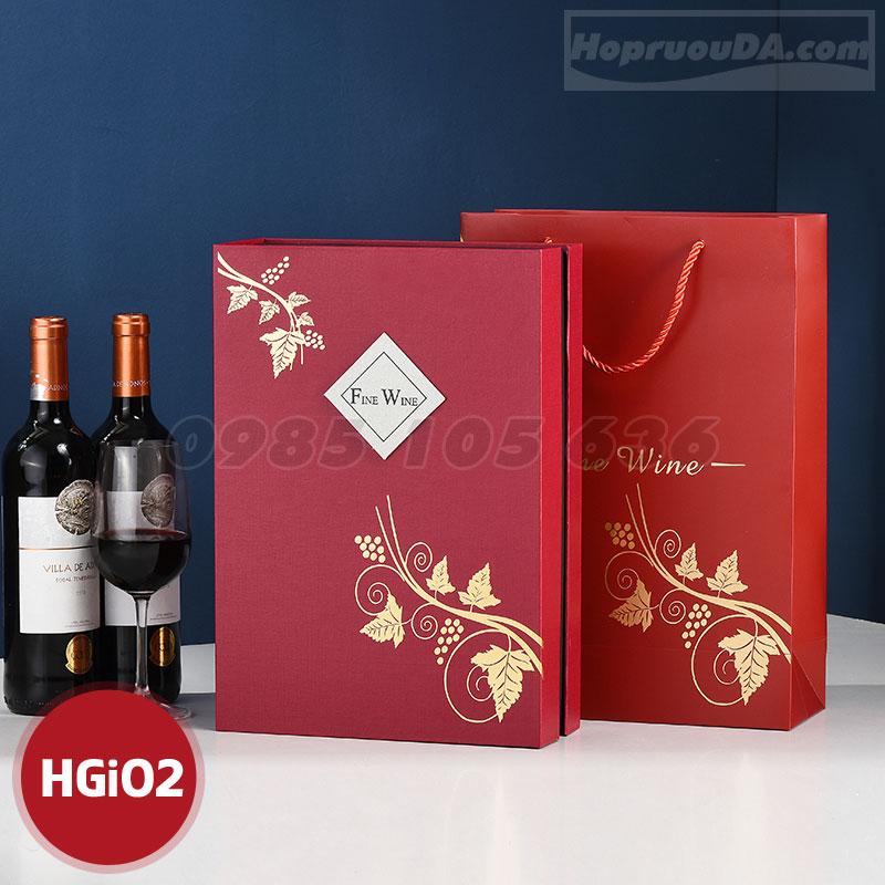 Hộp giấy đựng rượu vang cao cấp tại Hà Nội