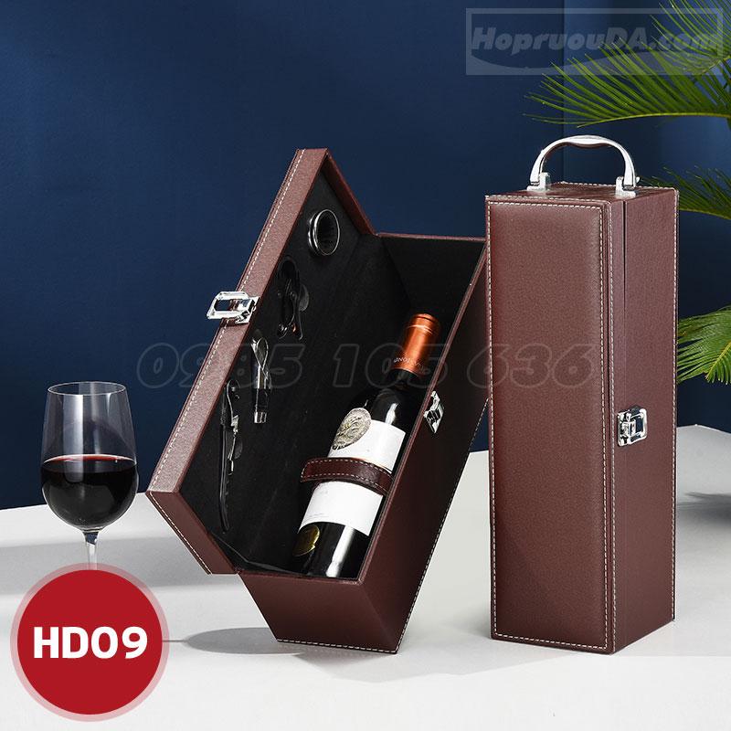 Hộp rượu bằng da đơn giá rẻ
