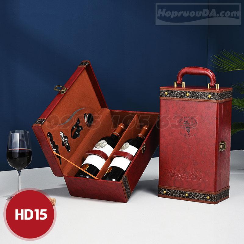 Địa chỉ mua hộp rượu da cao cấp tại Hà Nội