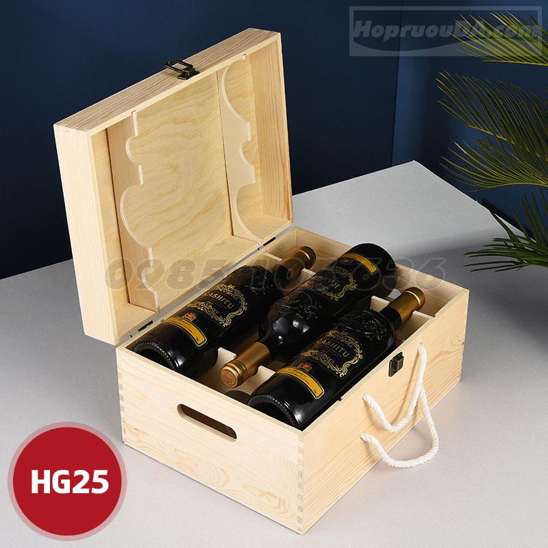 Địa chỉ cung cấp hộp rượu gỗ giá rẻ