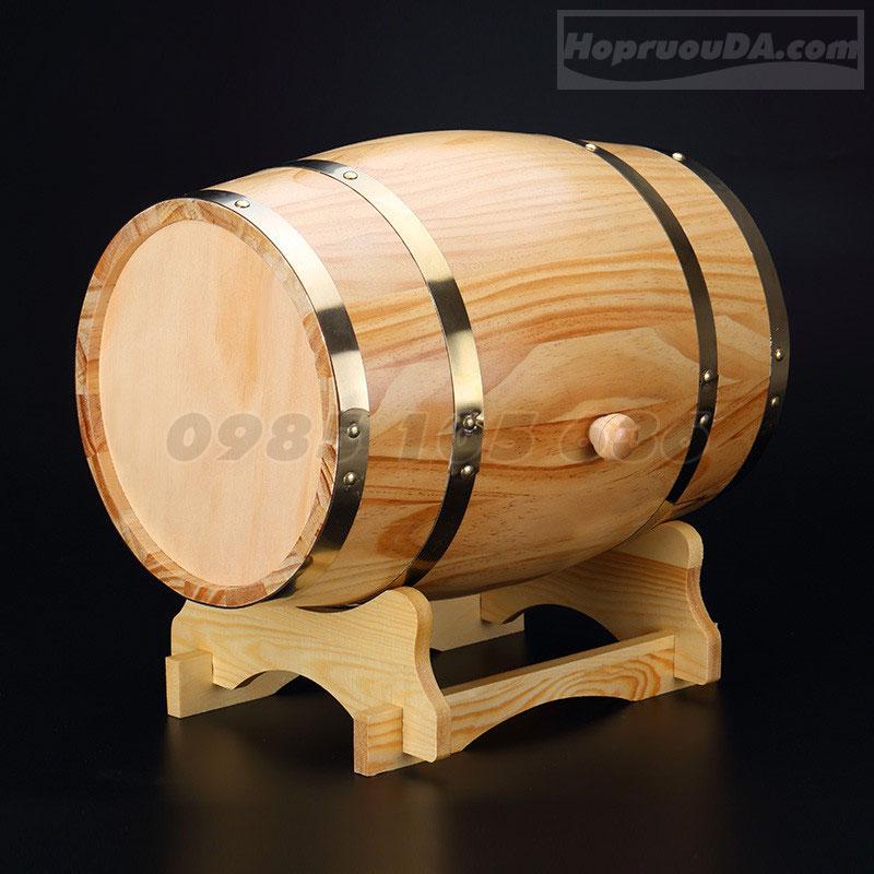 Thùng đựng rượu bằng gỗ