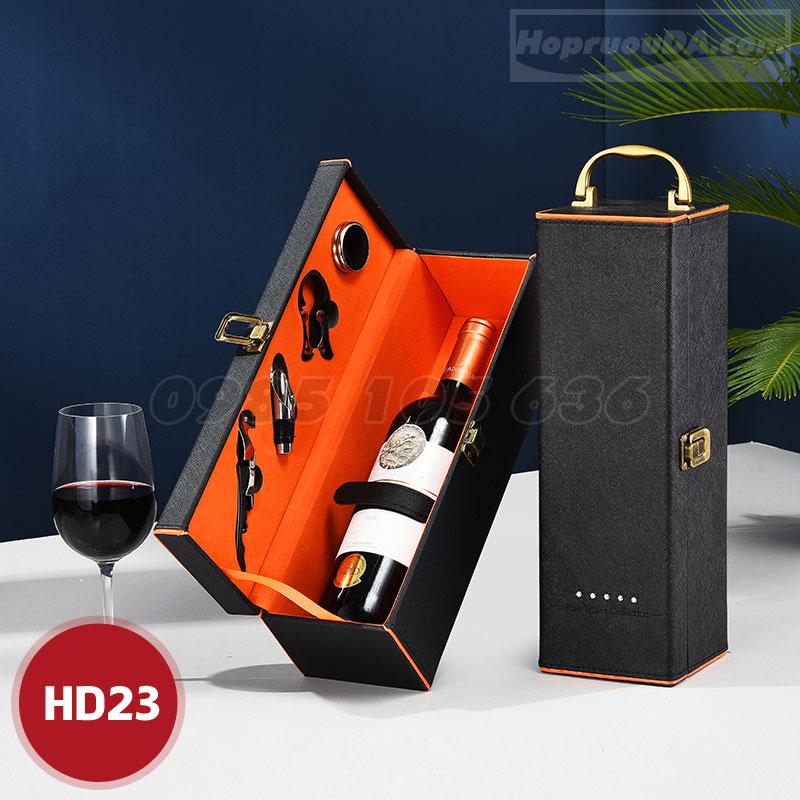 Hộp rượu vang bằng da giá rẻ