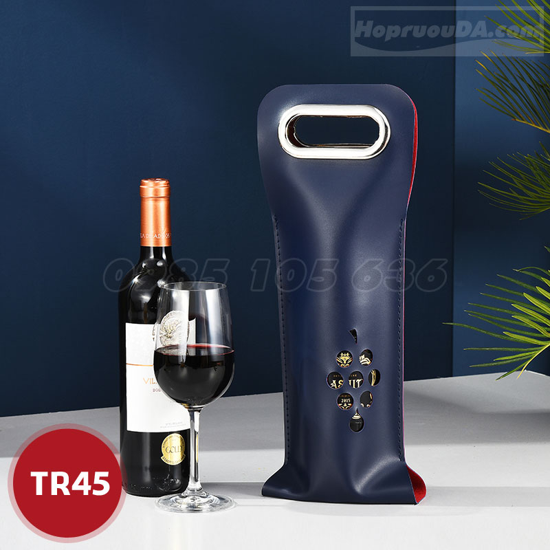 Túi da đựng 1 chai rượu vang giá rẻ tại TP HCM