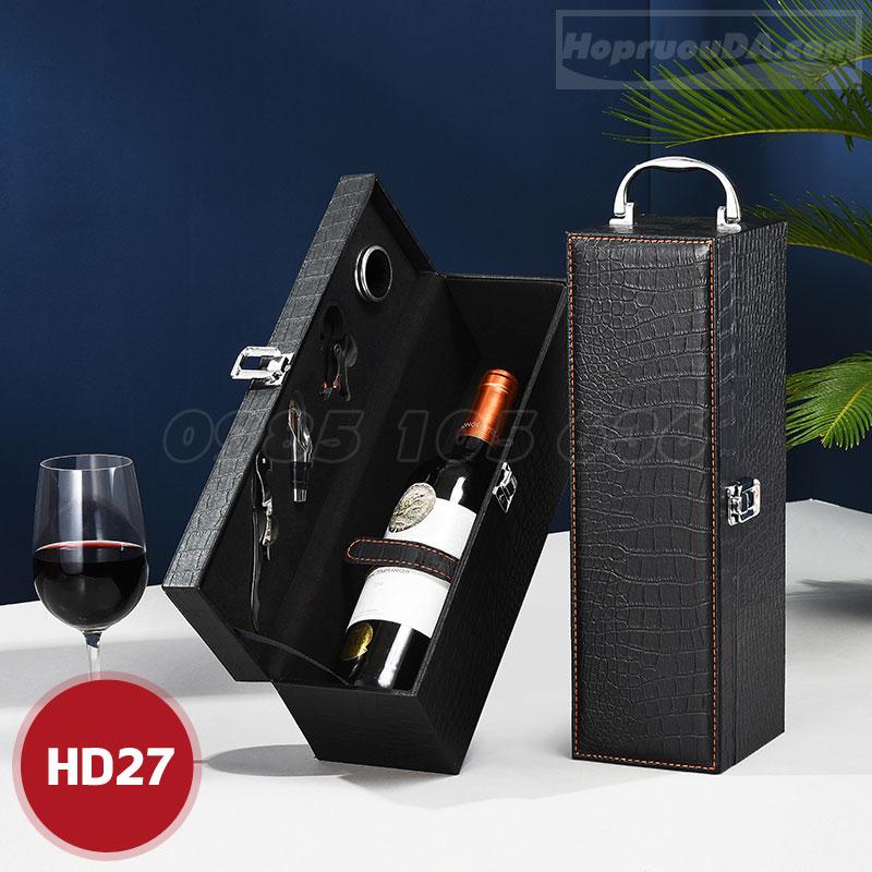 Vỏ hộp rượu vang đựng 1 chai giá rẻ